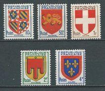 FRANCE 1949 . Série N°s 834 à 838 . Neufs **  (MNH) - Neufs