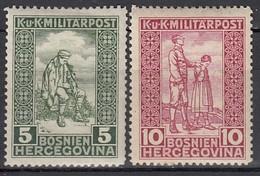ÖSTERREICH Bosnien&Herzegowina 1916 - MiNr: 97- 98    * / MLH - Oostenrijkse Levant