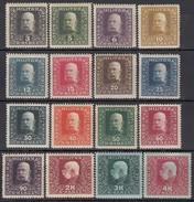 ÖSTERREICH Bosnien&Herzegowina 1916 - MiNr: 99 - 116 Lot 16 X    * / MLH - Oriente Austriaco