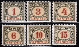 ÖSTERREICH Bosnien&Herzegowina Porto 1904 - MiNr: 1 - 13 Lot 6 X  * / MH - Oriente Austriaco