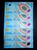 Lotto Di 6 Banconote Romania (circolate) 2000 Lei - Rumania
