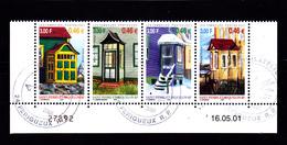 """SPM 2001 N° 746.747.748.749 En Bande Neufs **  Avec Cachet  """"Philatélie PERIGUEUX"""" - Voir DESCRIPTIF & Verso - - Used Stamps"""