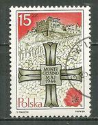 POLAND Oblitéré 2731 Anniversaire De La Bataille De MONTE CASSINO Champ De Bataille Croix - 1944-.... Repubblica