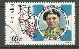 POLAND Oblitéré 3019 Général Maczek Bataille De Falaise - 1944-.... Republik