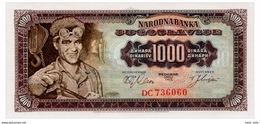 YUGOSLAVIA 1000 DINARA 1963 Pick 75 Unc - Yugoslavia
