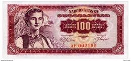 YUGOSLAVIA 100 DINARA 1963 Pick 73 Unc - Yugoslavia
