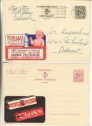 Publibel 1355 & 1996 - Lait Beurre Yoghourt Fromages & Chewing Gum - !! Trou Archives Dans 1355 - Entiers Postaux
