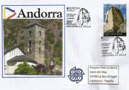 ANDORRA.EUROPA 2017: Castell (Château) De Les Bons, Obliteration FDC Correus Andorra, Sur Lettre - Europa-CEPT