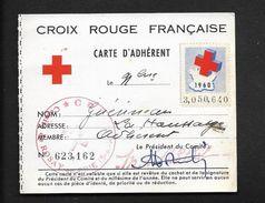 Vieux Papiers - Croix Rouge Red Cross Carte Adhérent Rozay En Brie - Vignette Erinnophilie 1960 - Commemorative Labels