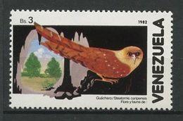 VENEZUELA 1982 N° 1114 ** Neuf MNH  Superbe Cote 2,75 € Faune Oiseaux Steatornis Caripensis Birds Animaux - Venezuela