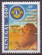 Timbre Oblitéré N° 1626B(Yvert) Sénégal 2001 - Lions Club International, Lion - Sénégal (1960-...)