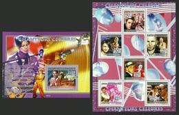 COMORO 2009 FILMS POP ROCK MUSIC BOWIE ELVIS PRINCE STING SINATRA WONDER MNH - Comoros