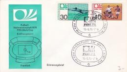 Germany Cover 1974 World Cup FIFA Football - Frankfurt Am Main Opening Game (T17-30) - Coppa Del Mondo