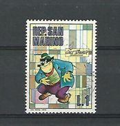 1970  REP.SAN MARINO WALT DISNEY OBLITERE - 1961-70: Used