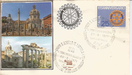ROTARY INTERNATIONAL ITALIEN (65 Ième Anniversaire), Lettre 1971 - Rotary, Club Leones