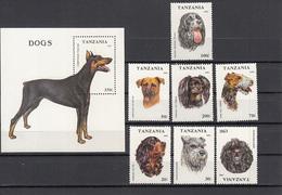 Tanzania Unused Stamps, Animals, Dogs     (Black Box A-34) - Domestic Cats