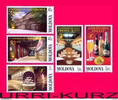 MOLDOVA 2002 Wine Winemaking Winery Cricova 50th Anniversary 5v Mi451-455 Sc432-436 MNH - Vini E Alcolici