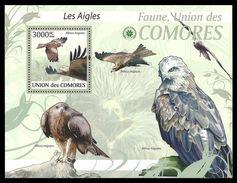 COMORO 2009 BIRDS EAGLES M/SHEET MNH - Comoros