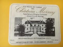 4878 - Château Mornag 1985 Tunisie - Etiquettes