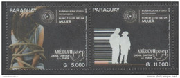 PARAGUAY,2015, MNH, UPAEP, FIGHT AGAINST HUMAN TRAFFICKING, WOMEN´S MINISTRY,2v - Emissions Communes