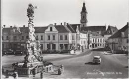 AK - LANGENLOIS - Straßenansicht Hauptplatz Mit Straßencafe 60er - Langenlois