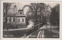 """AK - Wien, PRATERWien, PRATER - LILIPUTBAHN - Dampflok Beim """"Vivarium"""" 1928 - Prater"""