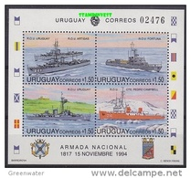 Uruguay 1994 Navy Day / Ships M/s ** Mnh (19272) - Uruguay