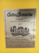 4891 - Château Bonnières 1985 - Bergerac