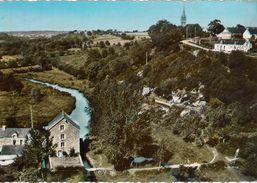 Cpsm 56 BRANDIVY  Le Moulin Et La Grotte, Vue Aérienne, Colorisée, Peu Courante , Grand Format, Dos Vierge - Other Municipalities