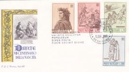 Vatikan FDC / ET 1965 Mi: 477 - 480 700. Geburtstag Von Dante Alighieri - FDC