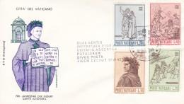 Vatikan FDC / ET 1965 Mi: 477 - 480 700. Geburtstag Von Dante Alighieri - Christianisme