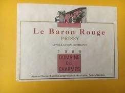 4898 - Le Baron Rouge1989 Peissy Domaine Des Charmes Genève Suisse - Etiquettes