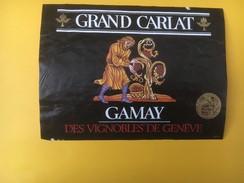 4900 - Grand Carlat Gamay Des Vignobles De Genève Suisse - Etiquettes