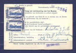 Kaartje Van De Geneeskundige Dienst Met Stempel Dendermonde - 1942-1951