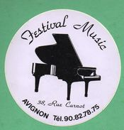 FESTIVAL MUSIC AVIGNON / AUTOCOLLANT - Autocollants