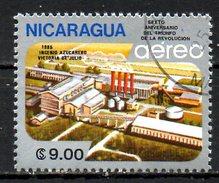 NICARAGUA.  PA 1102  Oblitéré De 1985. Raffinerie De Sucre. - Agriculture