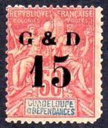 GUADELOUPE Yvert 47b-Maury 47III * Charnière - Défaut Cote 20.00€ - Guadalupe (1884-1947)