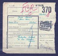 Fragment Met Stempel Lessines N°1 Magasin - 1942-1951
