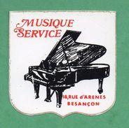 MUSIQUE SERVICE BESANCON / AUTOCOLLANT - Autocollants