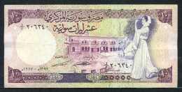 347-Syrie Billet De 10 Pounds 1977 - Syrie