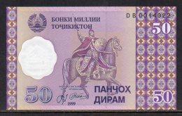 529-Tajikistan Billet De 50 Dirams 1999 DB001 Neuf - Tadjikistan