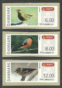 DENMARK 2012 ATM FRAMA POST & GO BIRDS SET MNH - Dänemark