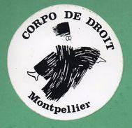CORPO DE DROIT MONTPELLIER  / AUTOCOLLANT - Autocollants