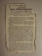 BP 117 - CHARLES DEMEULEMEESTER (CLEMENCE DEREMAUX) - GIJSELBRECHTEGEM 26.12.1860 - MOUSCRON 15.11.1951 - ZIE 2 FOTO'S - Devotion Images