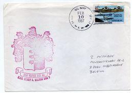 USA--1987--Lettre De U.S NAVY  Pour MIDDELKERKE (Belgique) - Timbre (avion) Seul Sur Lettre-- Beau Cachet - United States