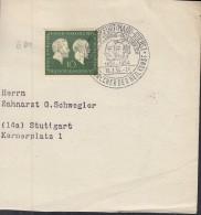 BRD 197 EF Auf Briefstück Mit SoSt: Frankfurt (Main)-Höchst E.von Behring -P.Ehrlich Bahnbrecher Der Heilkunst 16.3.1954 - BRD