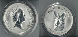 1995 AUSTRALIA - Kangaroo / Canguro  - 1 Dollars FDC PROOF - Argento / Argent / Silver 999 / 1000 - Confezione Originale - Moneta Decimale (1966-...)