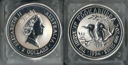 1994 AUSTRALIA - Kookaburra - 2 Dollars FDC PROOF - Argento / Argent / Silver  999 / 1000 - Confezione Originale - 2 Dollars