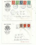 2 L Avec Des Timbres En  Anciens Francs..(avant 1960)...comptabilisés ...pour Des FRANCS...à Voir....... - Abarten Und Kuriositäten