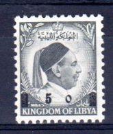 25.8.1955; König Idris I., Mit Neuem Wertaufdruck,  Mi-Nr. 70, Postfrisch **, Los 48766 - Libia